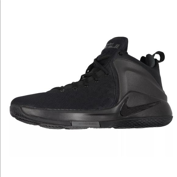 the latest 7ffce a7069 Nike Lebron Zoom Witness Basketball Shoes Black